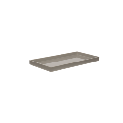 Lacquer tray 32x16 cool grey