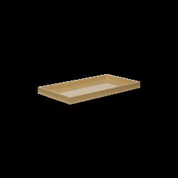 Lacquer tray 32x16 wheaten
