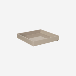 Lacquer tray 20x20 brown grey