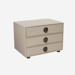 Chest of drawers warm grey