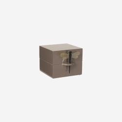 Lacquer box S mocca