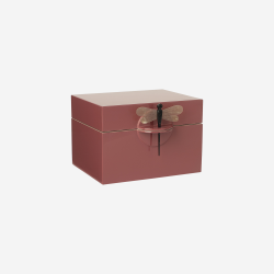 Lacquer box B warm red