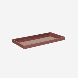 Lacquer tray 32x16 warm red