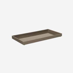 Lacquer tray 32x16 mocca