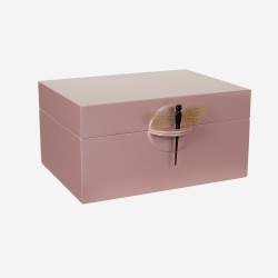 Lacquer box old rose, XL